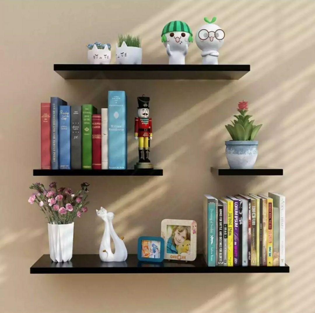 Wall Mounted shelves  Floating Shelves Book Shelf Storage shelves Wall shelves set of 4