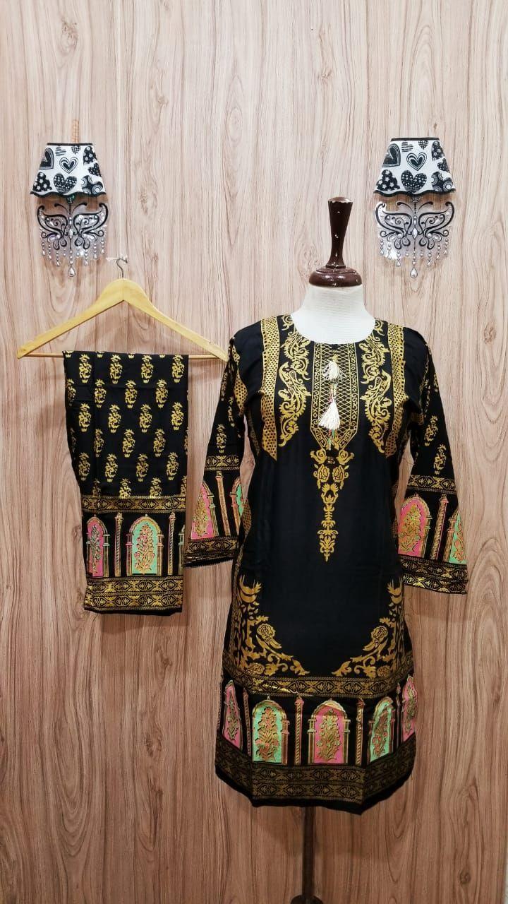 Digital Printed Stiched Kurta plus trouser (2pc) for women/girl
