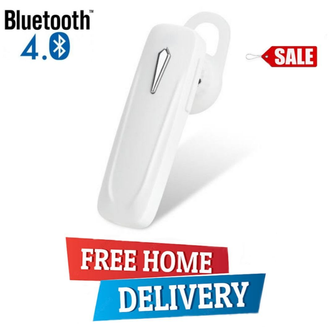 Original Bluetooth Handfree 4.0 Wireless Business Headset Earphone with Mic for all Mobile Phones in Black & White Color