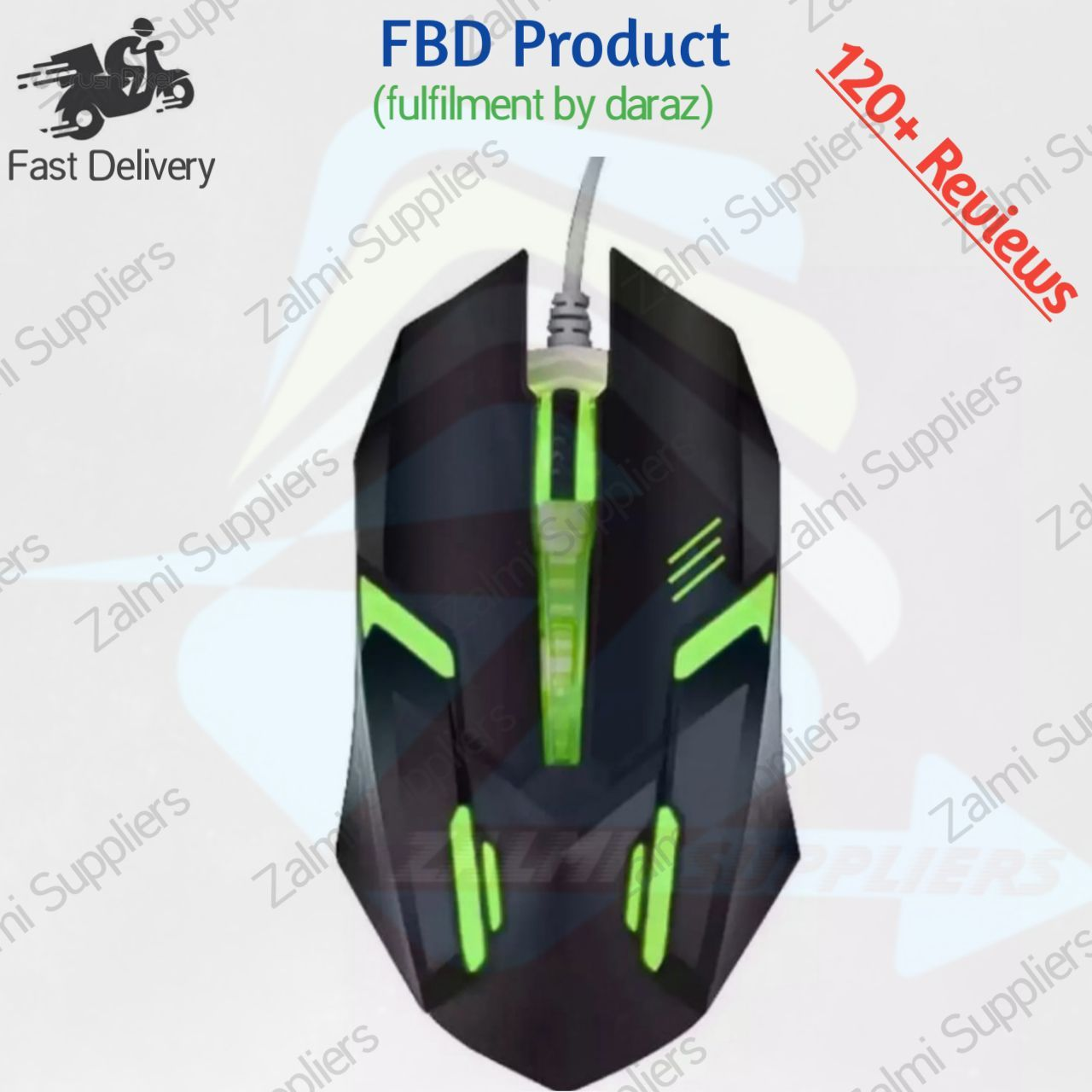 Usb Wired Opticle Computer Laser RGB Gaming Mouse 7 Color Changing Big for Computer PC and Laptop.