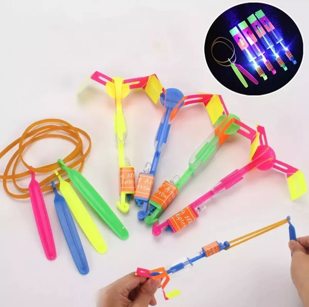 Amazing Led Light Arrow Rocket Helicopter Flying Toy For Kids - LED Bow and Arrow Toy
