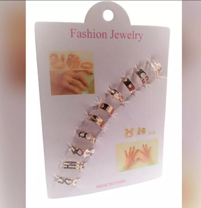 10 Pcs/set Bohemian Moon Star Rings Set For Woman Finger Statement Fashion Jewelry